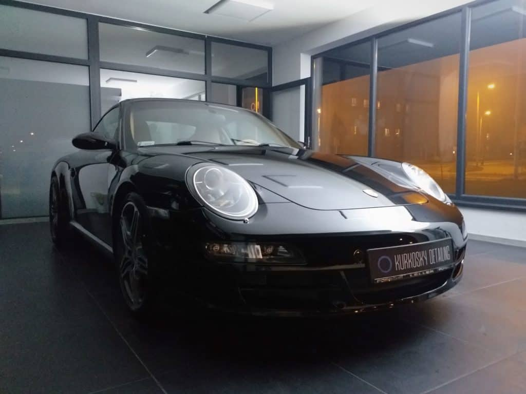 Porsche po aplikacji wosku